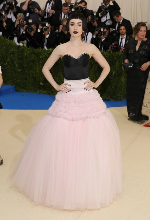 Lily Collins, Best Dressed, 2017 Met Gala