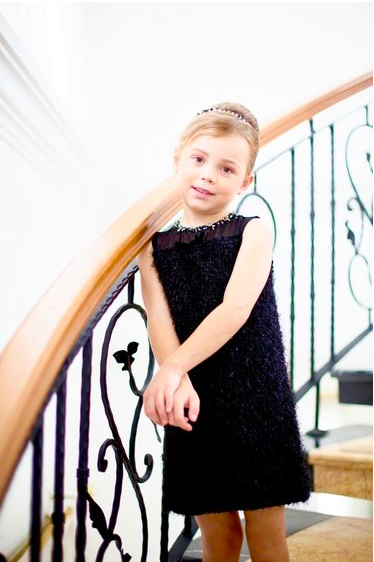 Black Formal Flower Girl Dress from Lulla Couture