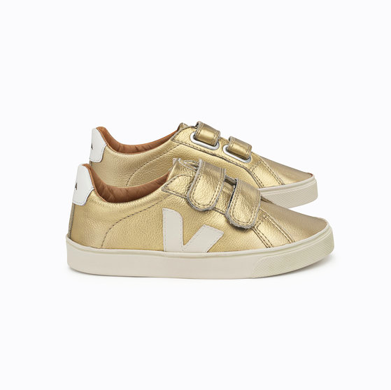 Designer Kids Shoes Gold Sneakers
