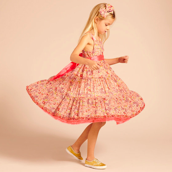 Floral Print Flower Girl Dress by I Love Gorgeous