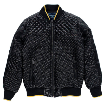 Boys Padded Leather Jacket, Designer Kids Fashion