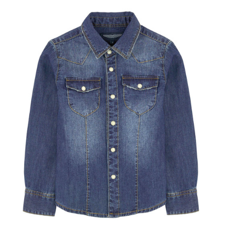 Western Denim Shirt, Boys, Designer Kids Clothes