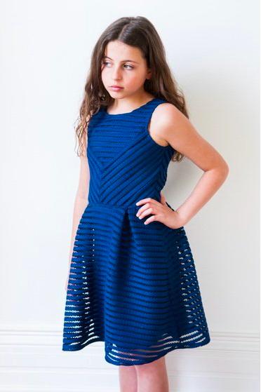 Royal Blue Flower Girl Dress by David Charles