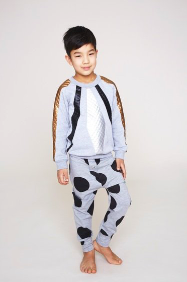 Designer Boys Clothes Unisex Gray Pants