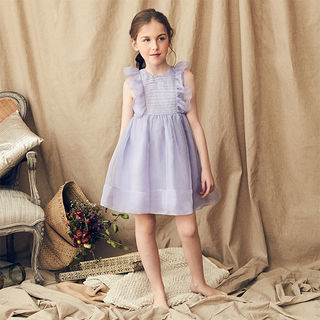 Mae Silk Dress in Whisteria