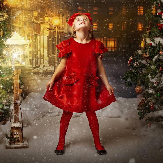 """""""Christmas"""" Velvet Dress"""