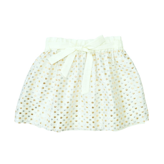 Gold and Silver Polkadot Skirt