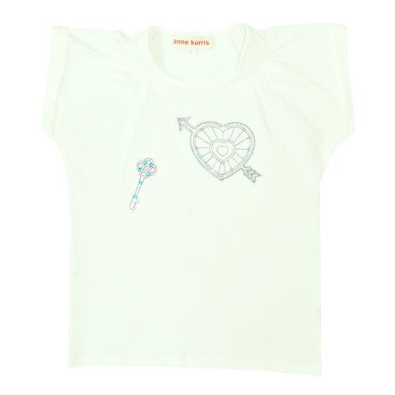 Girl's T-shirt spice love off white