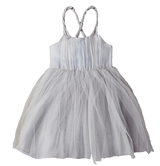 Arctic Ice Overlay Tulle Dress