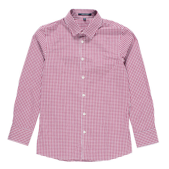 Boys Checked Print Button Down Shirt