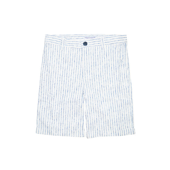 Striped White  &Blue Short