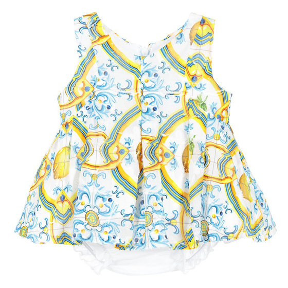 Baby Girl Printed Dress with Bloomer