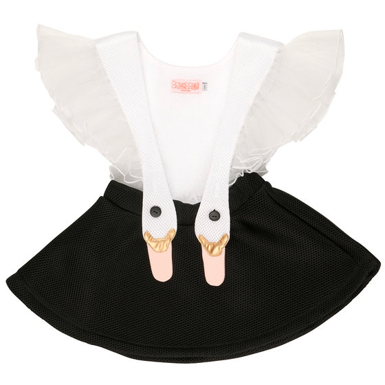 Bird Girl Frill Pinafore Dress