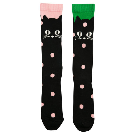 Cats Knee Socks in Black