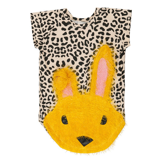 "New Season: Girl ""Nova Rabbit"" Dress in Leopard Print"