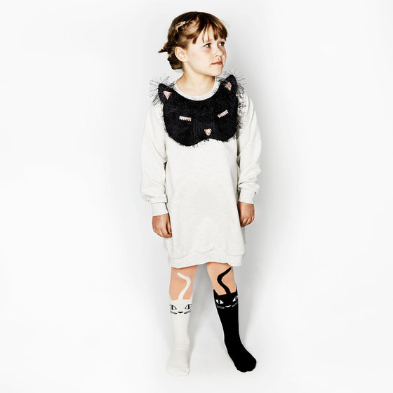 Sweater Dress with Appliqué