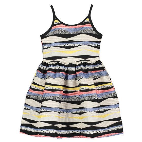 Girl's Bee Jacquard Strap Dress