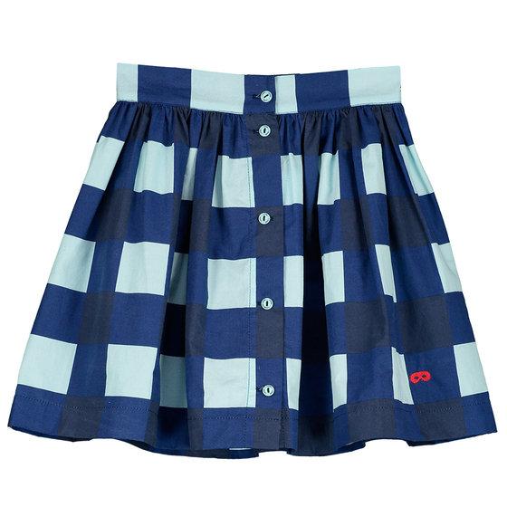 Girl Gingham Button Skirt