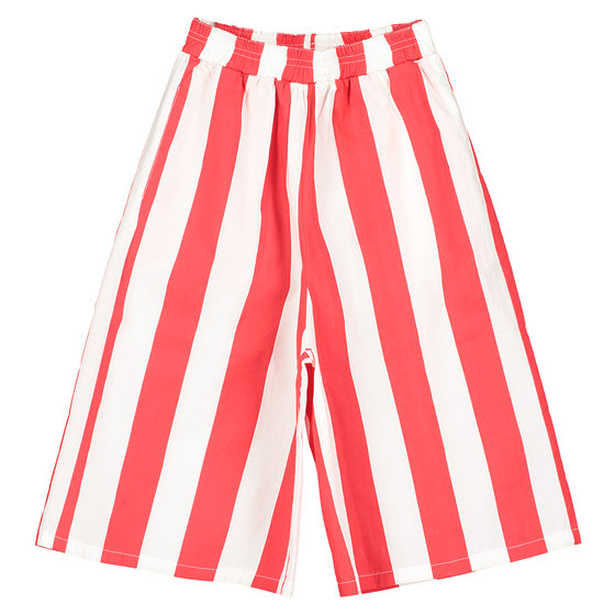 Red Stripe Culotte Pants