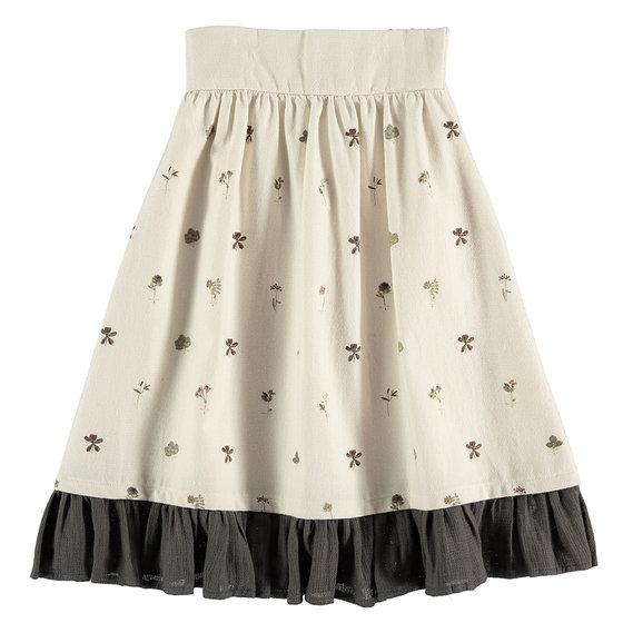 Contrast Ruffle Skirt