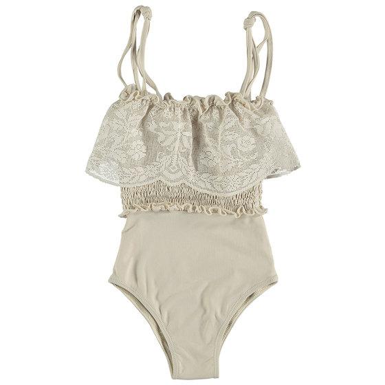 Smocked Bobbin Lace Swimsuit
