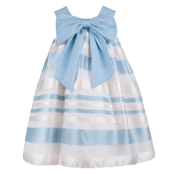 Blue Ivory Organza Dress