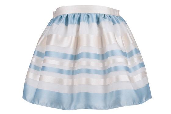 Blue Ivory Organza Skirt