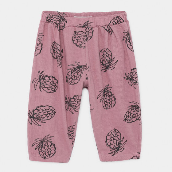 Baby Girl Pineapple Jersey Trousers