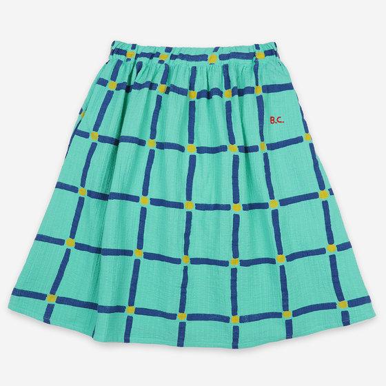 Cube All Over Woven Midi Skirt