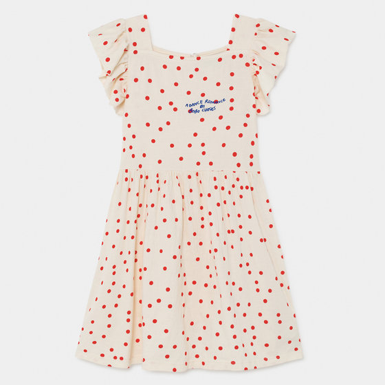 Dots Jersey Ruffle Dress