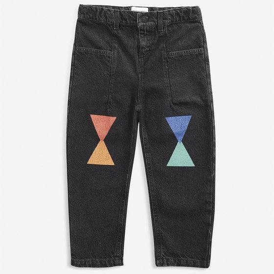 Geometric Denim Pants