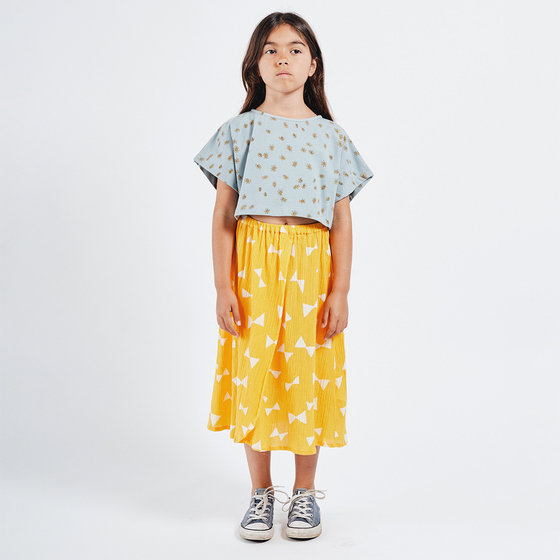 Girl All Over Daisy Cropped Sweatshirt