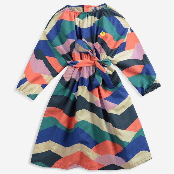 Multi Color Block Woven Dress