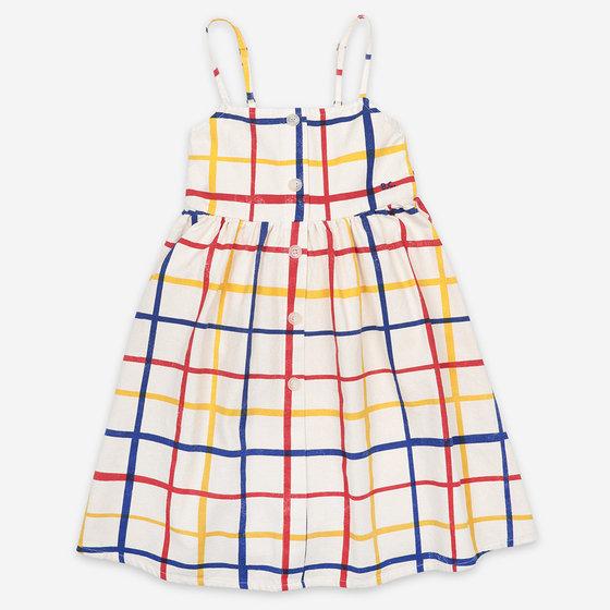 Multicolor Checkered Woven Dress