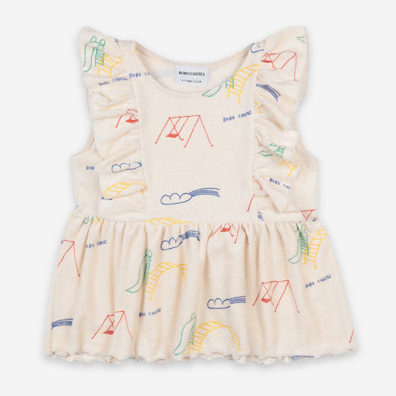 Playground All Over Ruffle Top