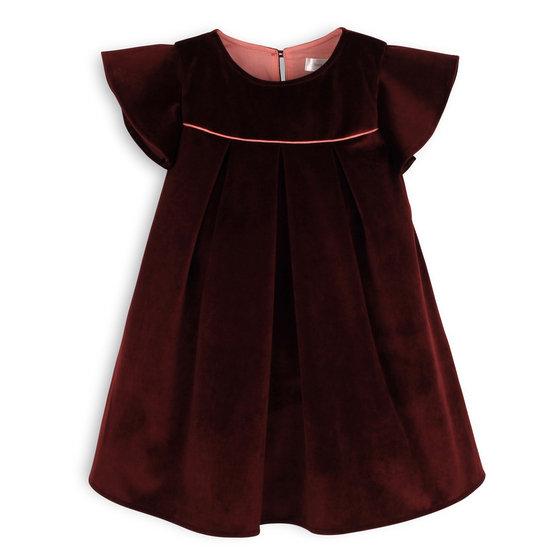 Burgundy Flared Cut Dress