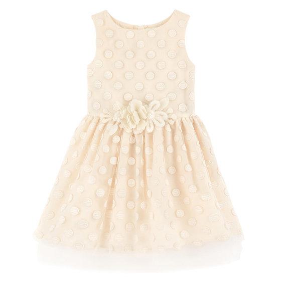 Ivory Embroidered Sleeveless Dress