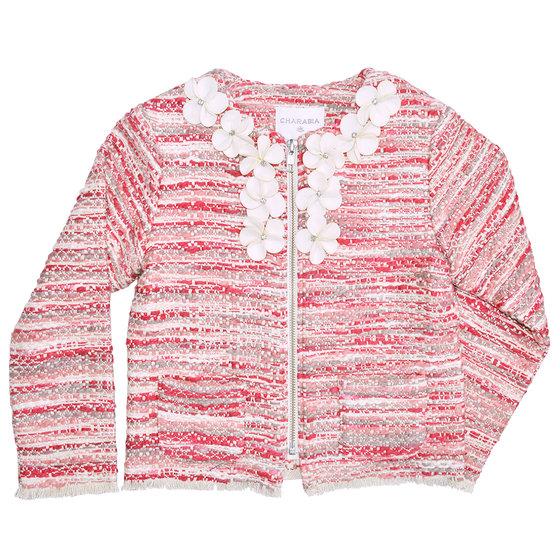 Red & Pink Tweed Jacket