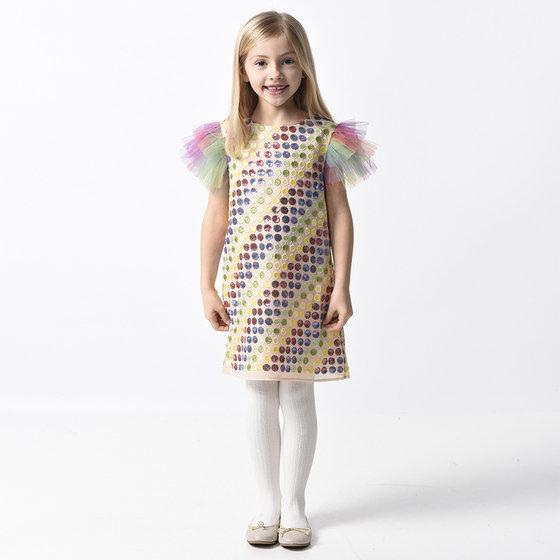 Rainbow Multi-Colored Dots Shift Dress