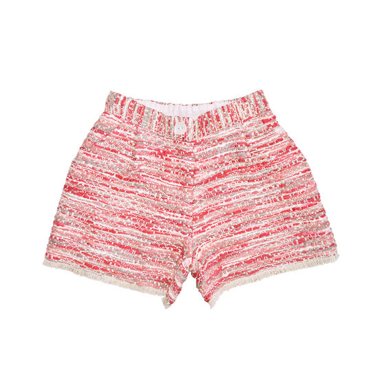 Red & Pink Tweed Short