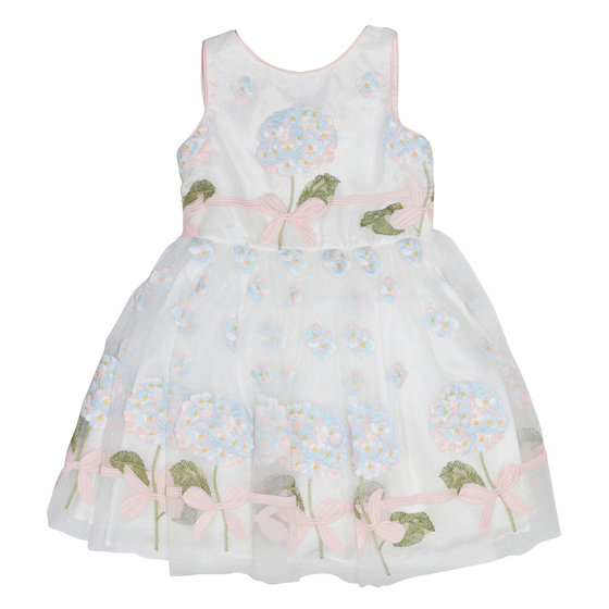 Multicolor Flower Embroidered Dress