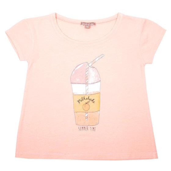 Milkshake Print Tee-shirt