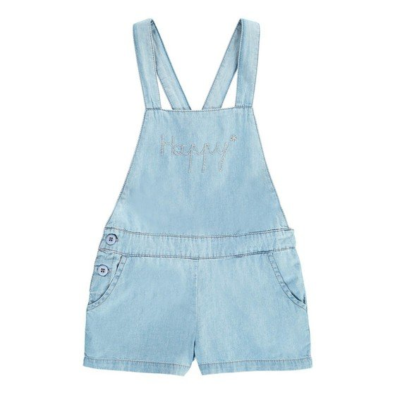 Chambray Overalls Light Blue