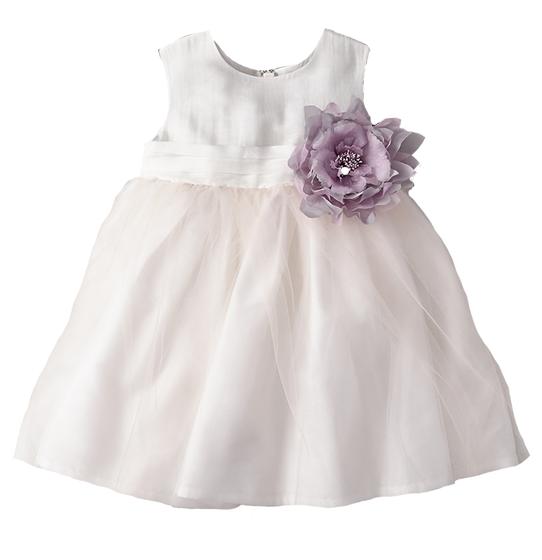 A-Line Tulle Overlay Girl Dress