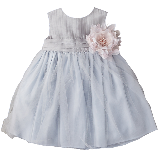 A-Line Tulle Overlay Girl Dress