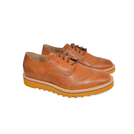 Brown Leather Wingtip Shoes