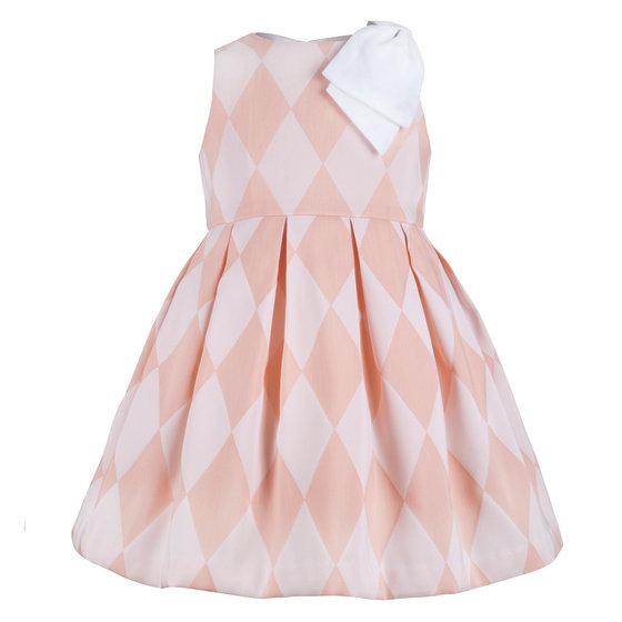 Grapefruit Harlequin Dress