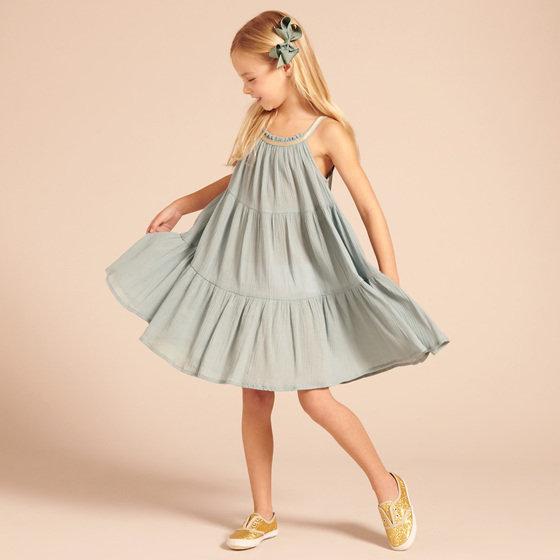 Aqua Crepe Dress