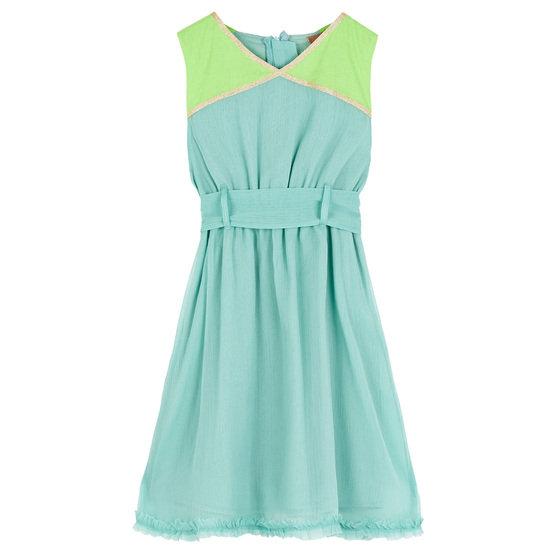 Aqua Belted Dress