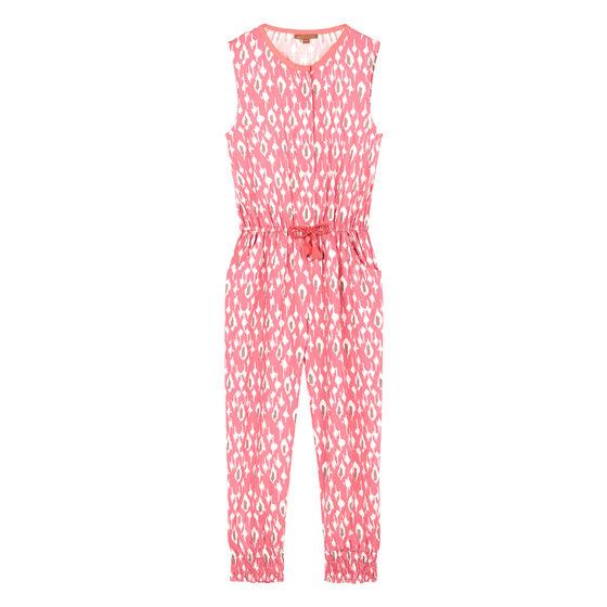 Pink Ikat Print Jumpsuit